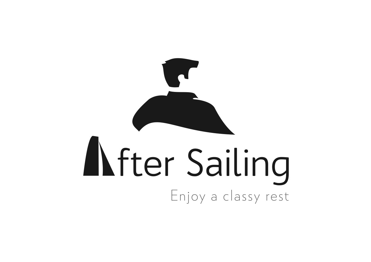 Logo after Sailing Noir sur blanc